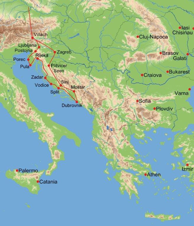 Kroatien busrundreise